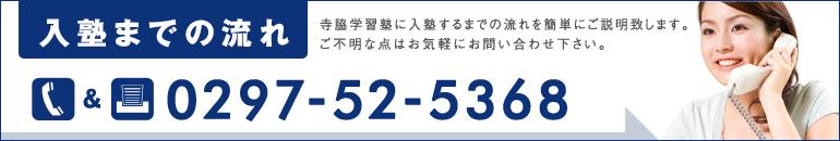 入塾までの流れTEL&FAX:0297-52-5368